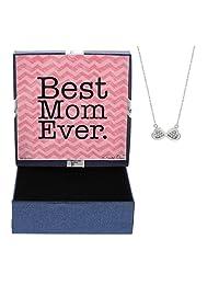 Best Mom Ever Poem 时尚银色无限心形吊坠项链 母亲节工艺品 装饰礼物 新妈妈礼物