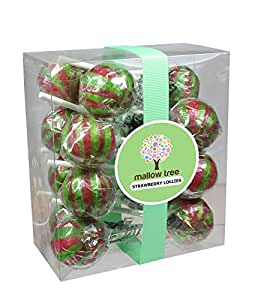 Mallow Tree Strawberry Flavoured Wrapped Lollipops(15) in a Gift Box, 375g