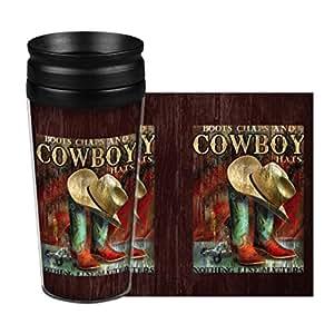 "Boelter Brands ""Cowboy"" Full Wrap Travel Tumbler, 14-ounce"
