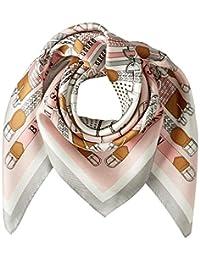 [光束 设计] 围巾 丝绸 粉色 50605503B 日本 52cm×52cm (FREE サイズ)