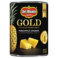 Del Monte Canned Gold Pineapple Chunks In 100% Pineapple Juice, 20 Oz