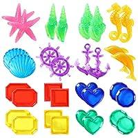 Toyssa 32 件潜水宝石沉没宝游泳泳池玩具套装水下游戏潜水训练礼物送给儿童男孩女孩