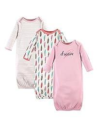 自然 touched 天然婴儿3只装有机棉睡袍 Feathers 0-6 Months