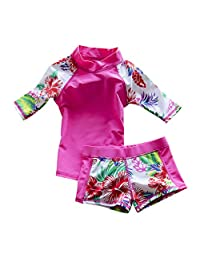 Baby Toddler 男孩女孩两件套泳装儿童泳衣 UPF 50+