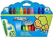 Prang be-be 大号蜡笔,可水洗,包括卷笔刀,混色,10 支装 (73010)