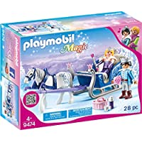 PLAYMOBIL 9474 玩具 – 带国王的雪橇,男女皆宜的儿童