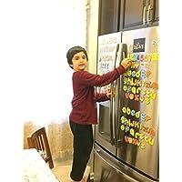 JUMBO 磁性字母和数字 - 字母数字冰箱磁贴 - 26 个上层盒 ABC,26 个下层 abc,数字 123,算术品 - 总共 66 个字母儿童教育乐趣玩具套装符号学习 #1