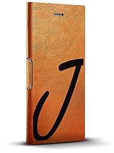 LuxendaryLUX-I8LTRBR-INITIALJ1 BLACK INITIAL J1 iPhone 8/7/6/6s Tawny Brown
