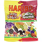 Haribo Jelly Babies and Wine Gums , 140 g, Pack of 12