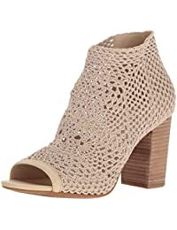 Jessica Simpson 17春夏新款 针织镂空 鱼嘴方根凉鞋(亚马逊进口直采,美国品牌)