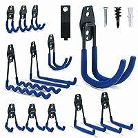 车库挂钩,INFANZIA钢重型车库储物挂钩,用于整理动力工具、梯子、散装物品(12件装)