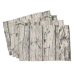 SARO LIFESTYLE 印花木质餐垫 天然 14 英寸 x 20 英寸 426.N1420B
