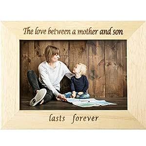 hestya 木质画框 THE LOVE 之间父母和孩子持续 FOREVER 木制相框适用于父亲母亲节生日礼物