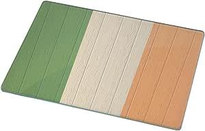 Rikki Knight Ireland Flag on Distressed Wood Large Glass Cutting Board