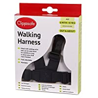 Clippasafe Walking Harness and Reins (Black)