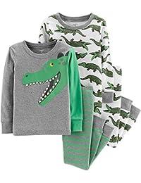 Carter's 男婴 4 件套睡衣睡衣睡衣睡衣睡衣舒适贴身棉恐龙