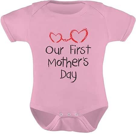 tstars teestars–我们的*一个母亲节–母女亲子装可爱婴幼儿宝宝连体衣 粉色 Newborn