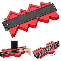 10 英寸(约 25.4 厘米)轮廓测量复写器,塑料截面测量,不规则形状测量工具的精确轮廓,复制木工跟踪,瓷砖标记(红色)(25.4 厘米)