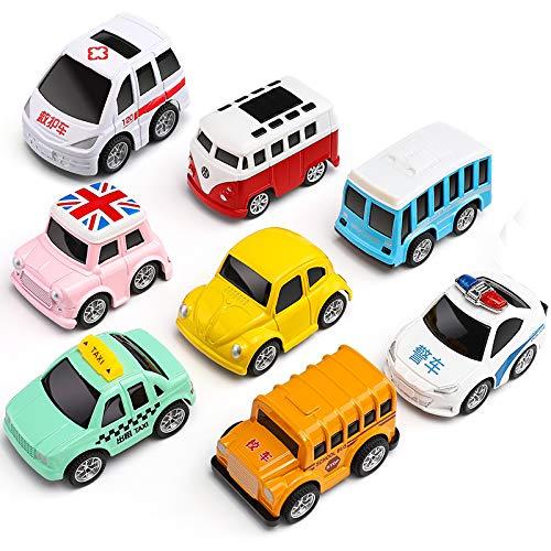 子育て赤ちゃん合金の慣性引き戻し車子供のおもちゃの車セット1  -  3歳の慣性車の赤ん坊車落下への少年の抵抗
