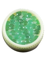 批发5克拉天然绿色圆形4mm 17pcs ,天然无增强