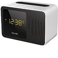 Philips 飞利浦 AJT5300W 收音机闹钟 带蓝牙 (FM 双闹铃 USB 充电器) 白色 / 黑色