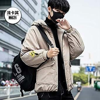 冬季ins面包服韩版潮流男士棉袄外套加厚棉衣加肥加大码工装棉服M621卡其色 4XL