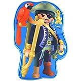 PLAYMOBIL United Labels 儿童男孩枕头儿童房海盗带鹦鹉,约 26 x 37 x 5 厘米,彩色