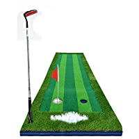 POLO 高尔夫果岭 室内模拟器推杆练习器用品golf练习毯球道套装