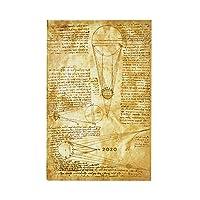 Paperblanks 12 个月日历 2020 | 太阳和月光 | 水平 | Maxi (210 x 135 mm)