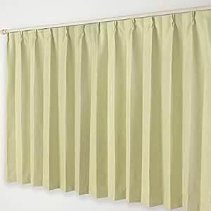 遮光窗帘 B 挂钩  04.黄緑 幅200×丈205cm 1枚
