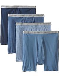 Hanes 男式无标签平角内裤带舒适 FLEX 腰带