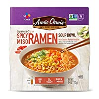 Annie Chun's Spicy Miso Ramen Noodle Bowl | Non-GMO, Vegan, Shelf-Stable (Pack Of 6) | Japanese-Style Healthier Ready Meal