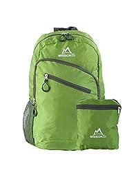 MISSION PEAK GEAR Lite 1800 可折叠徒步背包背包背包,超轻,耐用轻便背包,露营,户外,旅行,自行车,学校,携带背包