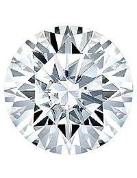 0.30-0.75 克拉。 真正的欧洲切割圆形莫桑石散钻石永恒闪亮无色制作/吊坠/耳环/戒指