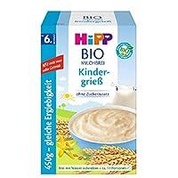 Hipp 喜寶 Bio-牛奶麥片粥 嬰兒輔食 不含添加糖 優享裝 適合6月齡以上的寶寶 兒童粗糧粉 粗粒小麥粉 4件裝(4 x 450 g)