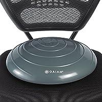 Gaiam Balance Disc 摇摆垫稳定核心训练器适用于家庭或办公桌椅和儿童替代课堂感官摇摆座椅