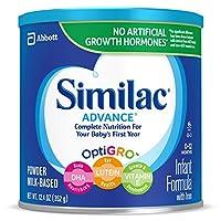 Similac 雅培 Advance 婴儿配方奶粉,12.4 盎司(352g)(6 件装)