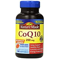 Nature Made, Naturally Orange CoQ 10 200 mg 140 Softgels tvvcw (Pack of 2)