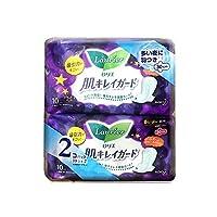 KAO 日本花王 瞬吸清爽夜用棉柔卫生巾 30cm 10片*2包 包装随机(日版乐而雅)(进口)