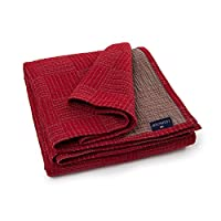 Lexington 240 x 160 x 0.5 厘米软棉床单,红色/米色