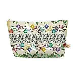 "Famenxt Kess InHouse Everything Bag 锥形袋,21.59 x 10.16 厘米""花叶图案""抽象几何图形 (FM1007AEP04)"