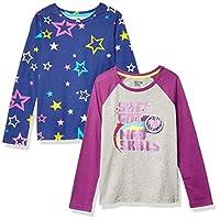 亚马逊品牌 - 斑点斑马女孩 2 件装长袖新颖 T 恤