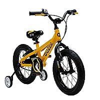 ROYALBABY 优贝 16寸儿童自行车推土机黄色爆款学生车(亚马逊自营商品, 由供应商配送)