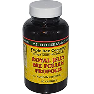 YS Eco Bee Farms Royal Jelly Bee Pollen Propolis with Ginseng (Pack of 3)