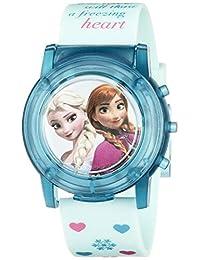Disney 儿童 FZN3821SR 数字显示模拟石英蓝色手表