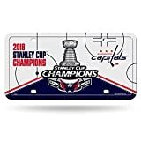Rico Industries NHL Washington Capitals 2018 Stanley Cup Champions 金属车牌标签
