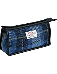 Vagabond Bags 哈里斯花呢格纹三角布洗漱包,20 厘米,中蓝色