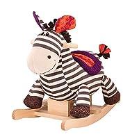 B.toys 摇摇马 斑马卡祖 木质毛绒摇椅玩具  婴幼儿童益智玩具 礼物 18个月+ BX1642Z