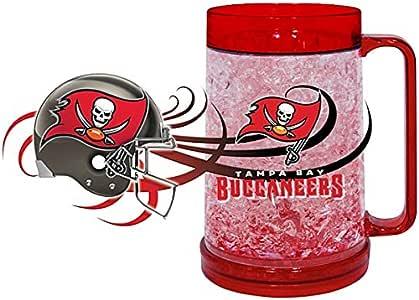 NFL 坦帕湾海盗队冷冻杯(16 盎司),大号,锡灰色