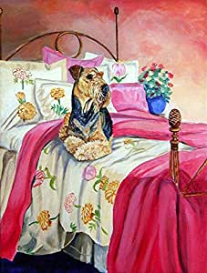 Airedale Terrier Waiting on Mom Flag 多色 大